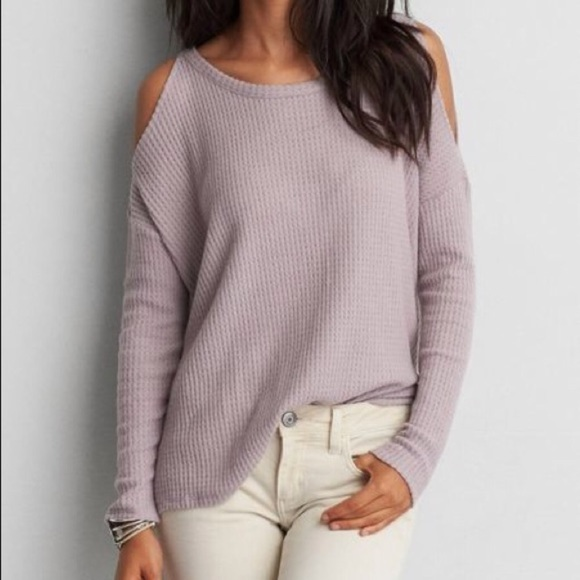 8f827bcdaf American Eagle Outfitters Sweaters - AEO Soft   Sexy Plush Cold Shoulder  Sweater XL